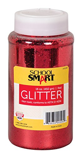 School Specialty School Smart Non-Toxic Craft Glitter, Red