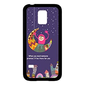When You Need Someone,I Promise I'll Be There For You Black Stylish Cover Case For Samsung GALAXY S5 Mini with high-quality Plastic