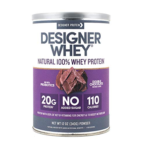 Designer Whey Protein Powder, Double Chocolate, 12 Ounce, Non GMO