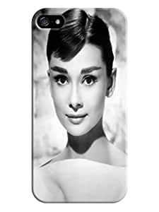 3D cute cartoon tpu skin back cover case with texture for iphone 5/5s of Audrey Hepburn in Fashion E-Mall