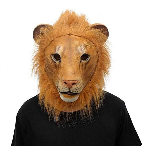 Wetietir Festival Mask Halloween Mask, Animal Lion Mask Dance Makeup Props Costume Mask -