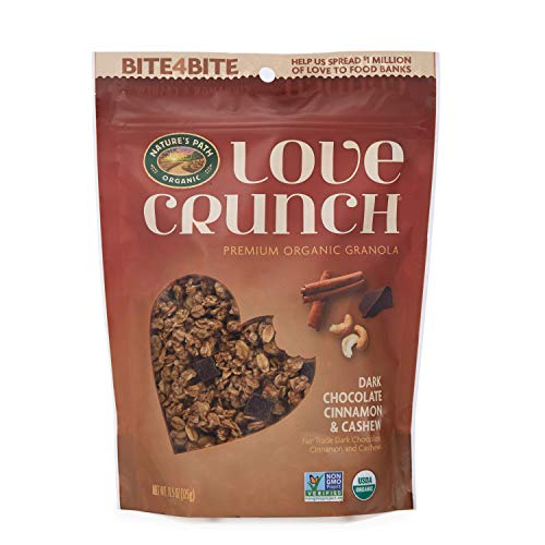 Cinnamon Crunch Granola - Nature's Path Organic Love Crunch Premium Granola, Chocolate Cinnamon & Cashew, 6 Count
