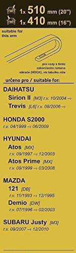 L6 Essuie-glaces FLAT SET Trevis 8.2006- 510+410mm