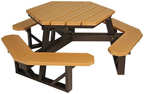 Frog Furnishings Hex Table, 6', Cedar by Frog Furnishings