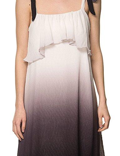 Glamorous Women's Women's White Maxi Dress With Fade Out Design 100% Polyester White