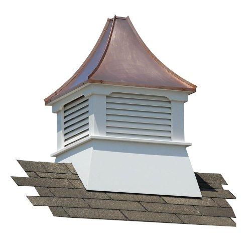 Suncast Belvedere Vinyl Cupola With Copper Roof Cupolas