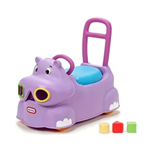 Ride Toy Scoot Around Animal Hippo Toddler Storage Under Seat Tricycles Wagon