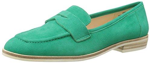 Nine West Women's Antonecia Suede Slip-On Loafer, Green Suede, 35.5 B(M) EU/3.5 B(M) UK