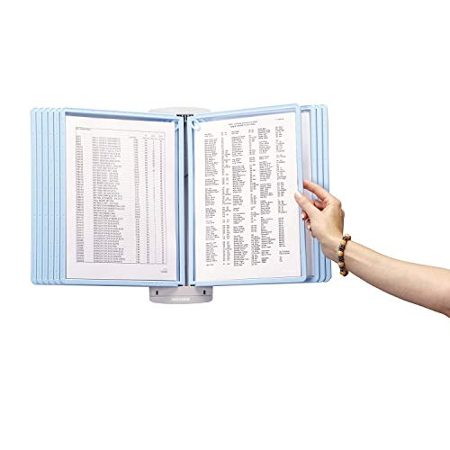 Durable SHERPA Style Wall Reference System, 20 Sheet Capacity, Blue/Gray - 5943-06