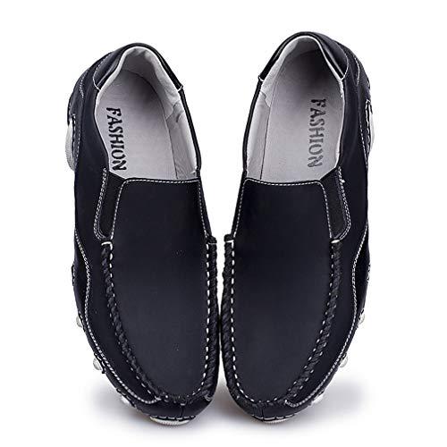 Deslizamiento poca de Boda confección Aire Primavera Zapatos y Segundo de de en la Libre de Profundidad al Comodines con la Zapatos Boca 2018 en Zapatos Zapatos Verano Hombre Cuero Oficina SqO6a6Yw
