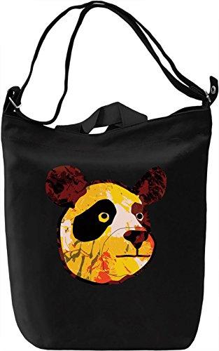 Funky Bear Borsa Giornaliera Canvas Canvas Day Bag| 100% Premium Cotton Canvas| DTG Printing|