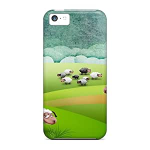 Excellent Design Funny Sheeps Case Cover For Iphone 5c
