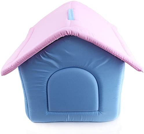 KOMIA Single Room House for Small Dog Indoor Outdoor House Bed Pet Soft Pad