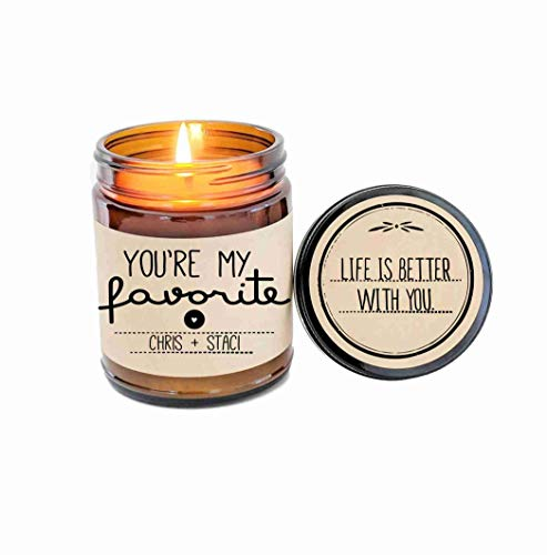 - You're My Favorite Personalized Scented Candle Jar Candle Candle Gift Romnatice Gift Soy Candle Gift