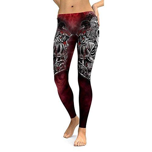 Stampato Fashion Palestra Pattern Eleganti Leggings Bolawoo Donna Marca Vintage Elasticit Pantaloni Gotico Tuta Sportivi Di Mode CYxUYBwq