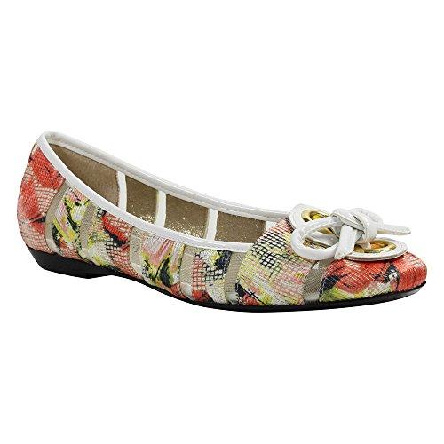 J.renee Mujeres Edie Ballet Flat Coral Multi / Blanco