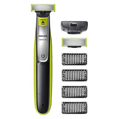 chollos oferta descuentos barato Philips OneBlade QP2530 30 Recortador de Barba con 4 Peines de 1 2 3 4 5 mm Longitudes Incluye Cuchilla Adicional Recorta Perfila y Afeita Recargable