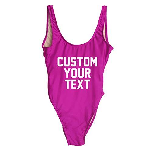 Ladies Custom Swimsuit Bridesmaid Swimming Bathing Costume Hen Party Brida ()
