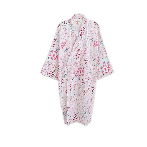 デモンストレーションバンケット暫定のレディース パジャマ 綿 ルームウェア 部屋着 夏 かわいい バスローブ ルームワンピース ネグリジェ ロング 花柄 桜 浴衣 和風