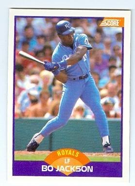 Bo Jackson Baseball Card Kansas City Royals Bo Knows 1989