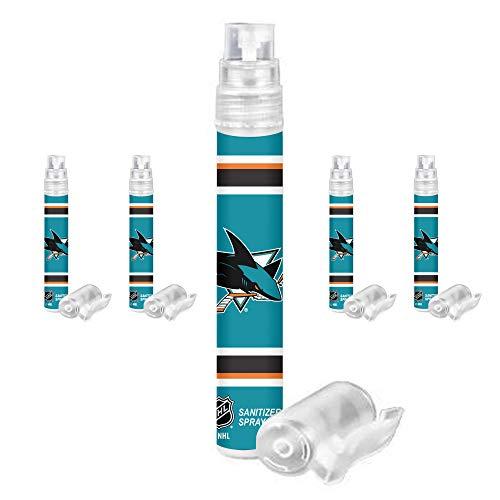 5k Hockey Gloves - NHL San Jose Sharks Hand Sanitizer Spray Pen 5-Pack. NHL Gifts for Men Women. Ideal Stocking Stuffers