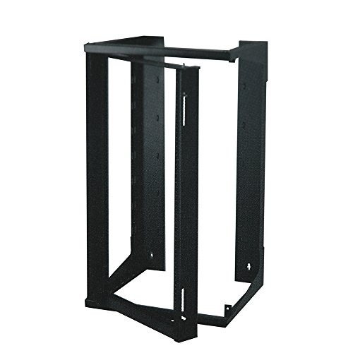 Quest Manufacturing Swing-Out Open Frame Wall Rack, 20 Unit, 3' x 18