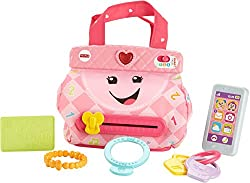 Learning fun never goes out of style with the Laugh & Learn My Smart Purse by Fisher-Price.This adorable purse helpsyour babylearn about numbers, colors, opposites and more, while offering up fun early role play!Your babycan carry their five...