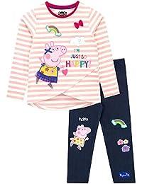 Peppa Pig Girls' Peppa T-Shirt and Leggings