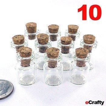 Compra eCrafty EC-4911 Mini Botellas de Vidrio con tapón de Corcho ...