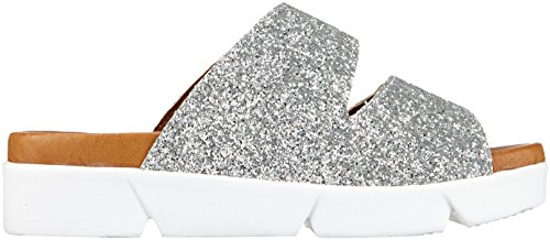 Andrea Conti Damen 1745706 Pantoletten Silber (Silber)