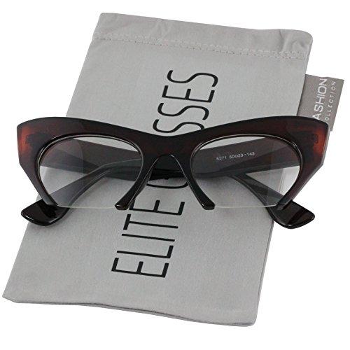 Para Glasses mujer Rojo Cateye Elite YTqwxSn7q