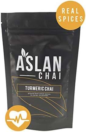 Chai Golden Milk Chai Turmeric Tea Curcumin Tea - Green Tea Curcumin for weight loss, detox, inflammation, Whole All Natural Spices, 100% Vegan and Gluten Free, 56 Servings