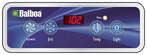 1 Jet Duplex Panel Digital - Balboa 30-200-1676 Topside Kit, Lite Duplex Digital, VL403, 51676, Black