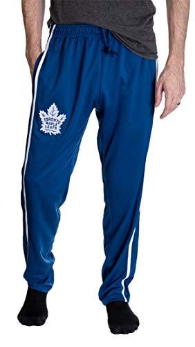 Calhoun NHL Men's Striped Training Pants (Toronto Maple Leafs, X-Large)
