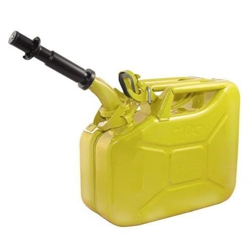 Wavian USA JC0010YVS Authentic NATO Jerry Fuel Can and Spout System Yellow (10 Litre)