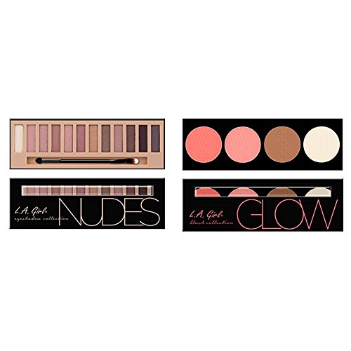 L.A. Girl Beauty Brick Eyeshadow, Nudes, 0.42 Ounce & L.A. G