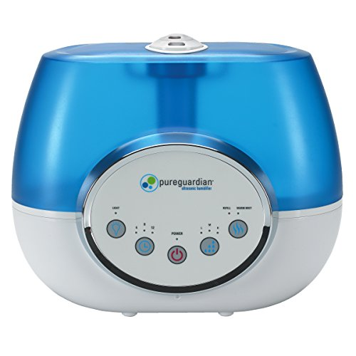 PureGuardian H1610 100-Hour Ultrasonic Warm and Cool Mist Humidifier, Digital, 1.5-Gallons