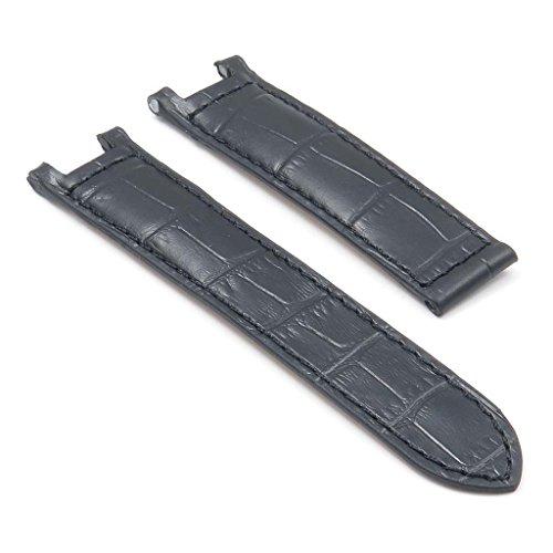 DASSARI London Croc Leather Strap for CARTIER Pasha - Pasha De Cartier Watch Band