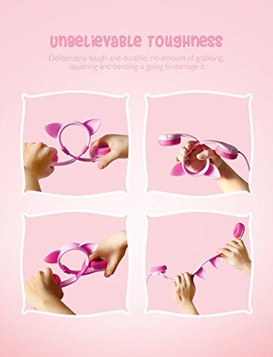 67583d2d7e8 ... [2019 Upgrade]iClever Boostcare Kids Headphones Girls - Cat Ear Hello  Kitty Wired Headphones ...