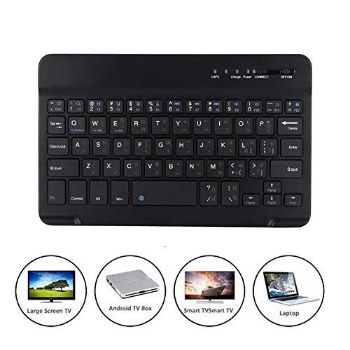 fosa 7-inch Arabic Portable Ultra-Thin Wireless Bluetooth Keyboard Waterproof and dustproof, Wireless Arabic Keyboard Scissor Type Lightweight for Android/iOS/Win (Keyboard Ipad Arabic)