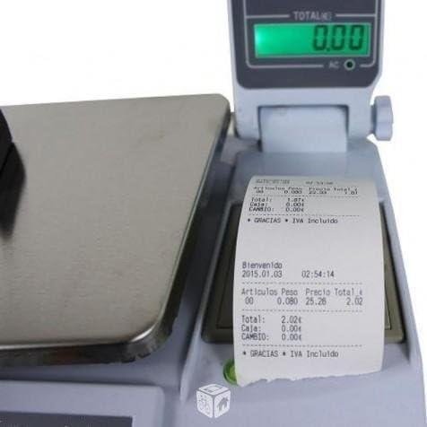 balanza bascula con impresora de ticket programable: Amazon.es: Hogar