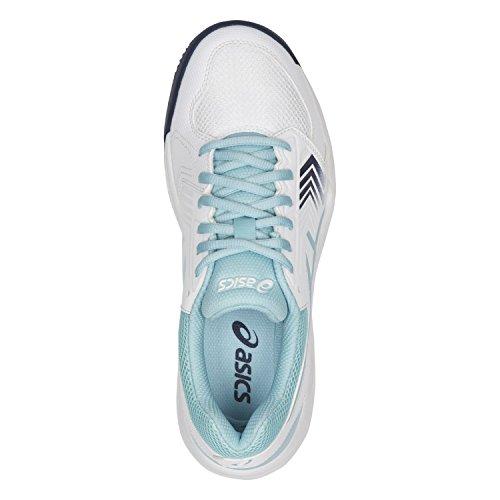Blue Whiteporcelain Multicolor de 5 Dedicate Mujer Zapatillas Clay Gel para Tenis Asics Blueindigo w7qvCBn7