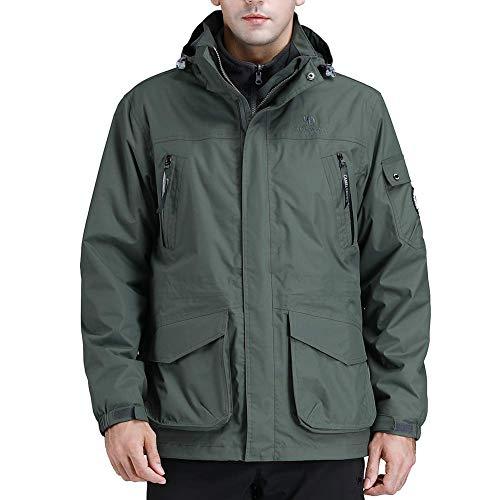 CAMEL CROWN Men's Waterproof 3-in-1 Ski Jacket Windproof Warm Winter Coat Mountain Snow Jacket for Rain Outdoor Hiking