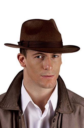 Fun World Unisex-Adult's Gangster Michael Jackson Pimp Hat, Brown, Standard