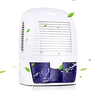 AmzdealDeshumidificador portátil - Deshumidificador ligero y silencioso, Secadora de 1500ML contra humedad y moho, para dormitorio, cocina y cuarto de baño etc