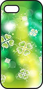 Iphone 6 Plus (5.5 In) Case - Yellow Shamrock Leaf - St Patrick's Day - Black Plastic Protective Case - Lucky 4 leaf clover - Inspirational, Motivation Holidays