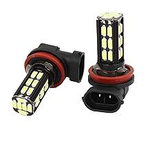uxcell® 2 Pcs Automobile Car H11 5630 30 SMD LED Side Light Bulb Lamp White 12V