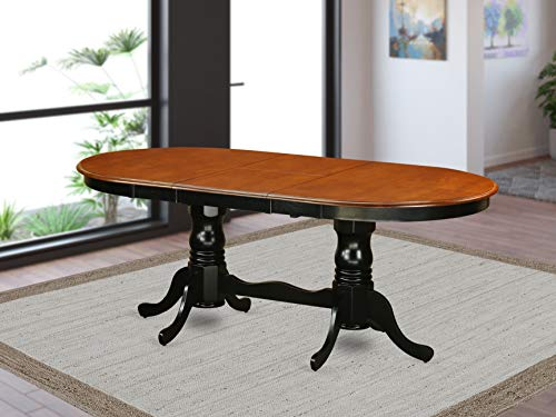"Table with 18"" butterfly Leaf -Black and Cherry."