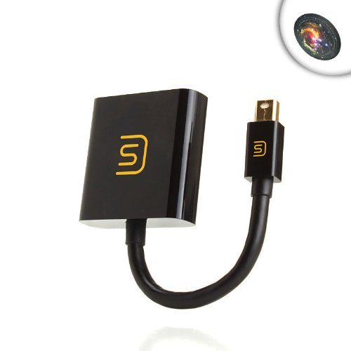 DATASTREAM Gold Plated Mini DisplayPort to HDMI Adapter up to 1080p Resolution for Radeon Graphics Cards by SAPPHIRE , XFX , GIGABYTE & More! ** Mousepad Included **