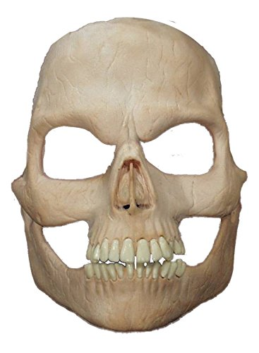 UHC Men's Scary Skeleton Prosthetic Skull Theme Party Latex Halloween Mask]()